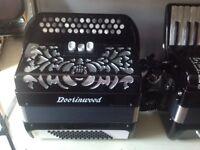 Brand new lightweight 72 bass Chromatic 3 row buton accordion C scale.