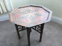 coffee table (brass & enamel)
