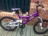 Childs Purple/White Dunlop Sport Bike (Dual Suspension) in VGC