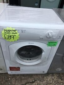 HOTPOINT 7KG VENTED TUMBLE DRYER