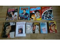 80 x elvis books , annuals , badges , magazines , playing cards ,