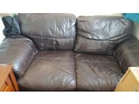 FREE 2 seater sofa no breaks in it just general wear will need a rub down
