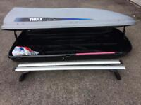 Thule Alpine 100 roof box and Thule roof bars