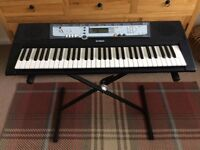 Yamaha Electric Keyboard, Stand and Power Pack