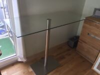 Dwell High Glass Topped Table