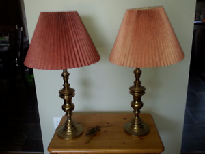 Matching Brass lamps with shades