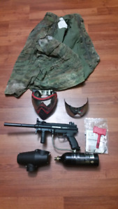A5 set up with, full co2, camo jacket, and mask with 2 lenses