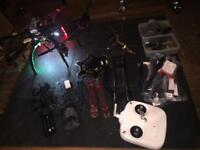 Dji550 drone upgraded and with extras