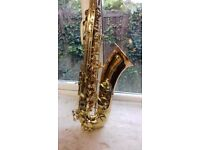 New Tenor Saxophone hand crafted in Britain by Hanson instrumentation.