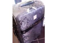 TRULY LOVELY LUXURIOUSLY GOOD QUALITY ORIGINAL TROLLEY SUIT-CASE ON FOUR WHEELS