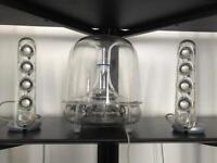 Harman Kardon Soundsticks II Twin Speaker Sound system and Subwoofer. Great Condition!
