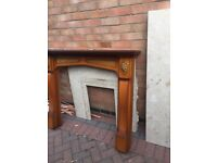 Wood fire surround Marble Harth