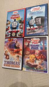 4 DVD's: 3 Thomas & Friends + 1 Winnie the Pooh