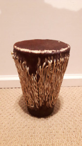 AFRICAN GOAT SKIN DRUM TRIBAL HAND MADE