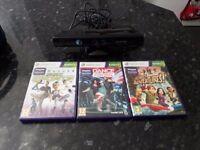 Kinect sensor and games for Xbox 360