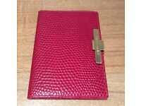 ORIGINAL SMYTHSON RED LEATHER PASSPORT HOLDER