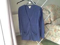 Navy Blue Long Cardigan Size M