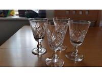 stuart crystal glengarry liqueur glasses (four)