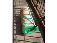 Garden roller drum