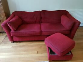 M&S 3 Seater settee and footstool