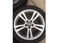 Seat Ibiza alloys 4 good nankang tyres