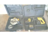Used Dewalt 24 v cordless tools set, SDS Drill, Circular saw etc. GWO, see photos & details