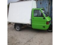 piaggio 3 wheel ape /tm 220 cc only 1457 miles mobile advertising vehicle WITH LOADING DOOR