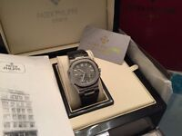 MENS PATEK PHILIPPE NAUTILUS NEW WITH BOX BOOK CARD TAGS BAG