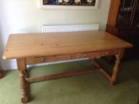 Beautiful farm house dining table. Well loved family table. Needs some TLC