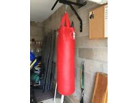 Punch Bag - boxing/MMA training. 4ft tall, medium weight, good condition.