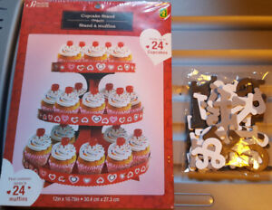Cupcake Stand Letters Wedding Party BBQ Shower
