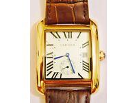 Cartier Tank Gents Gold Plated Watch - Quartz