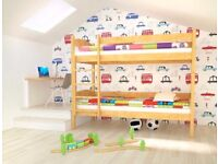 ALEX Pine Wooden Bunk Bed for Children/Kids Solid Wood