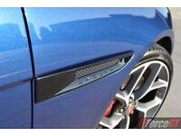 Jaguar XE / XF front side wing vents..Black