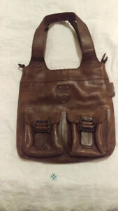 Aunts & Uncles Brown Leather Handbag - like new