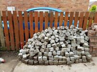 Huge pile of cobble stones silver/gray some used some new