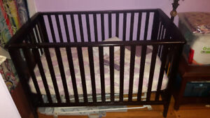 Childcraft crib, crib mattress, crib bedding