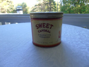 SWEET CAPORAL CIGARETTE TOBACCO TIN