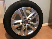 GENUINE ALLOY WHEELS & TYRES MERCEDES C220 BLUEEFFICIENCY EXECUT