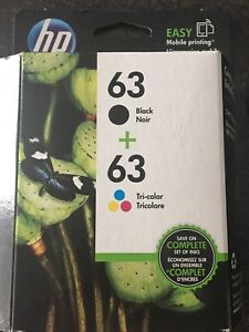 HP  63  ink cartridge combo pack
