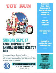 Motorcycle toy drive