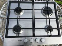 AEG Stainless Steel Gas Hob, model HG654320 NM, 4 burners, excellent condition