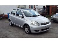 2003 TOYOTA YARIS 1.3 T.SPRIT, AUTO, 68,OOO MILES, 2 FORMER KEEPERS, HPI CLEAR, 11 MONTHS MOT