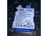 used wd scorpio blue 320gb hard drive