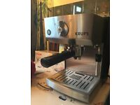 Used Krups XP254 espresso coffee machine with milk frother