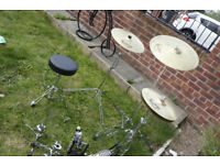 Cymbals-Ride, Crash, Hi Hat, and other drum kit parts-May Deliver (small extra charge)