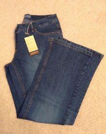 Women's Clothing Blue Arizona Jeans Size 16 Inside Leg Length 30 inches BNWT