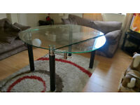 Glass Dining Table Seats 6 - Extendable Sides - Designer Glass Torino Extends