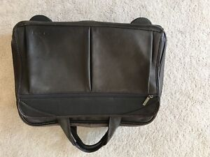 Genuine leather roller briefcase