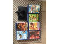 PS 2 with games 1 controller